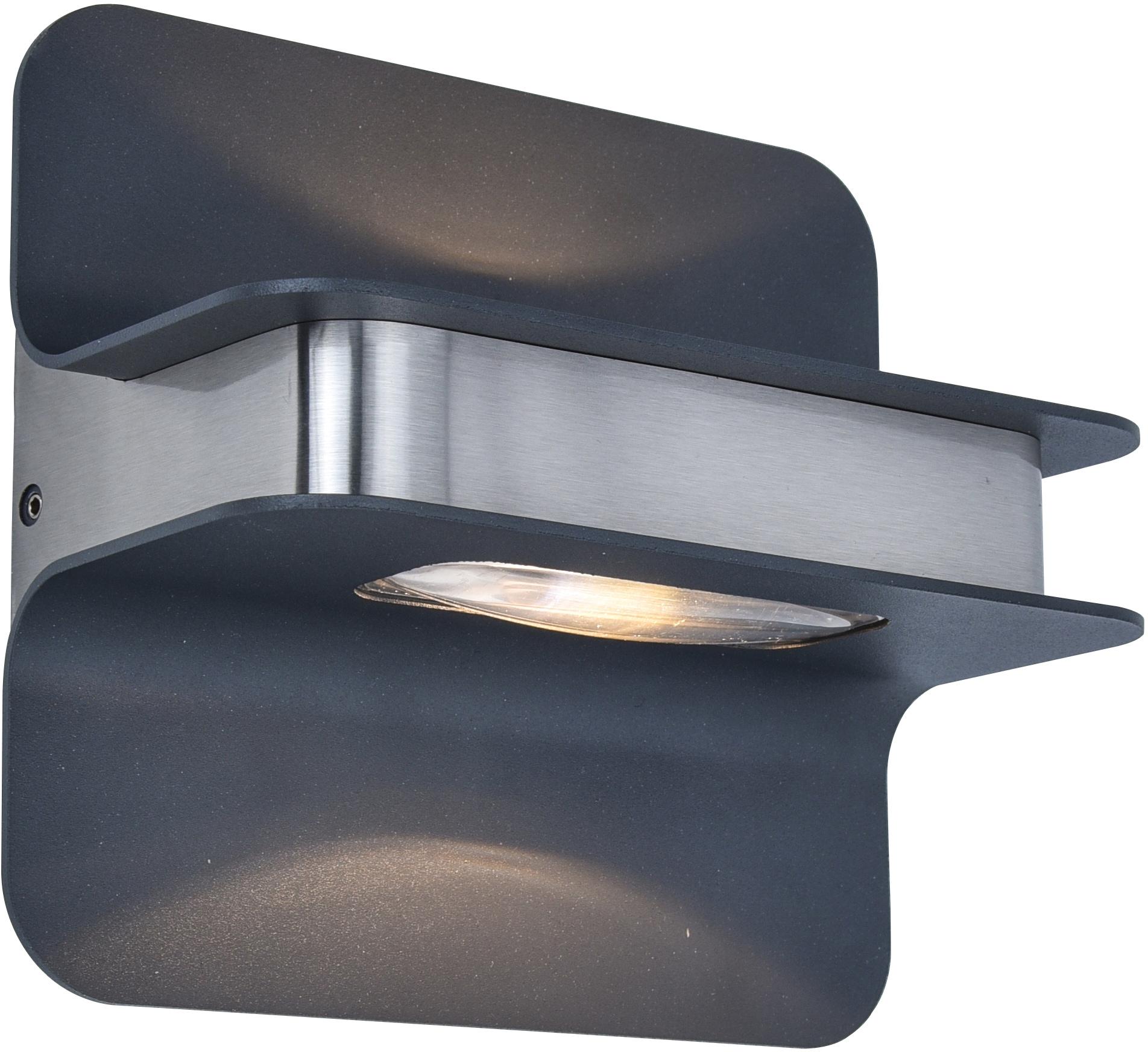 LUTEC LED Außen-Wandleuchte HILL 5195801001, LED-Modul, 1 St., Warmweiß