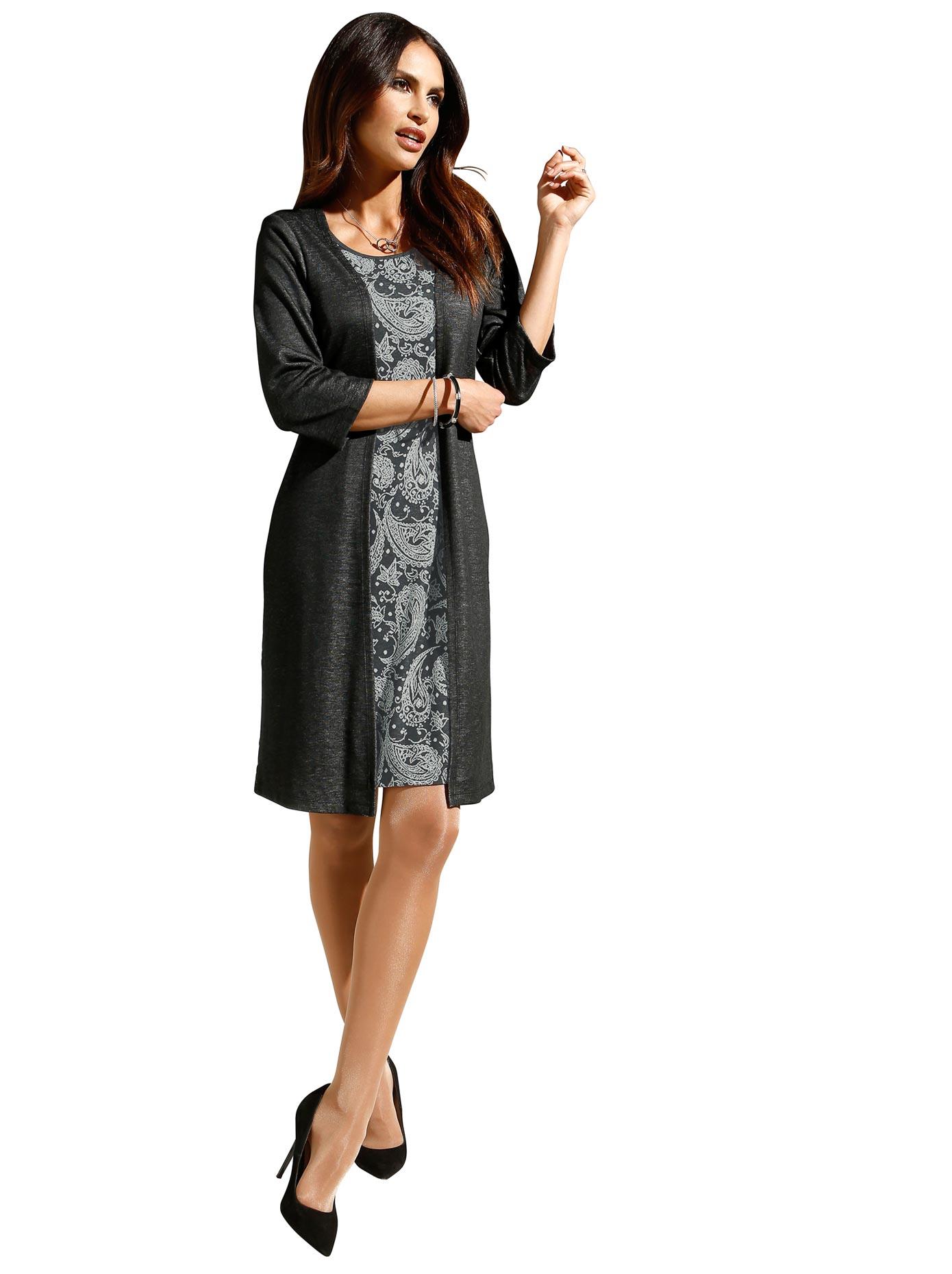 Alessa W Jersey-Kleid in attraktiver figurgünstiger 2-in-1-Optik