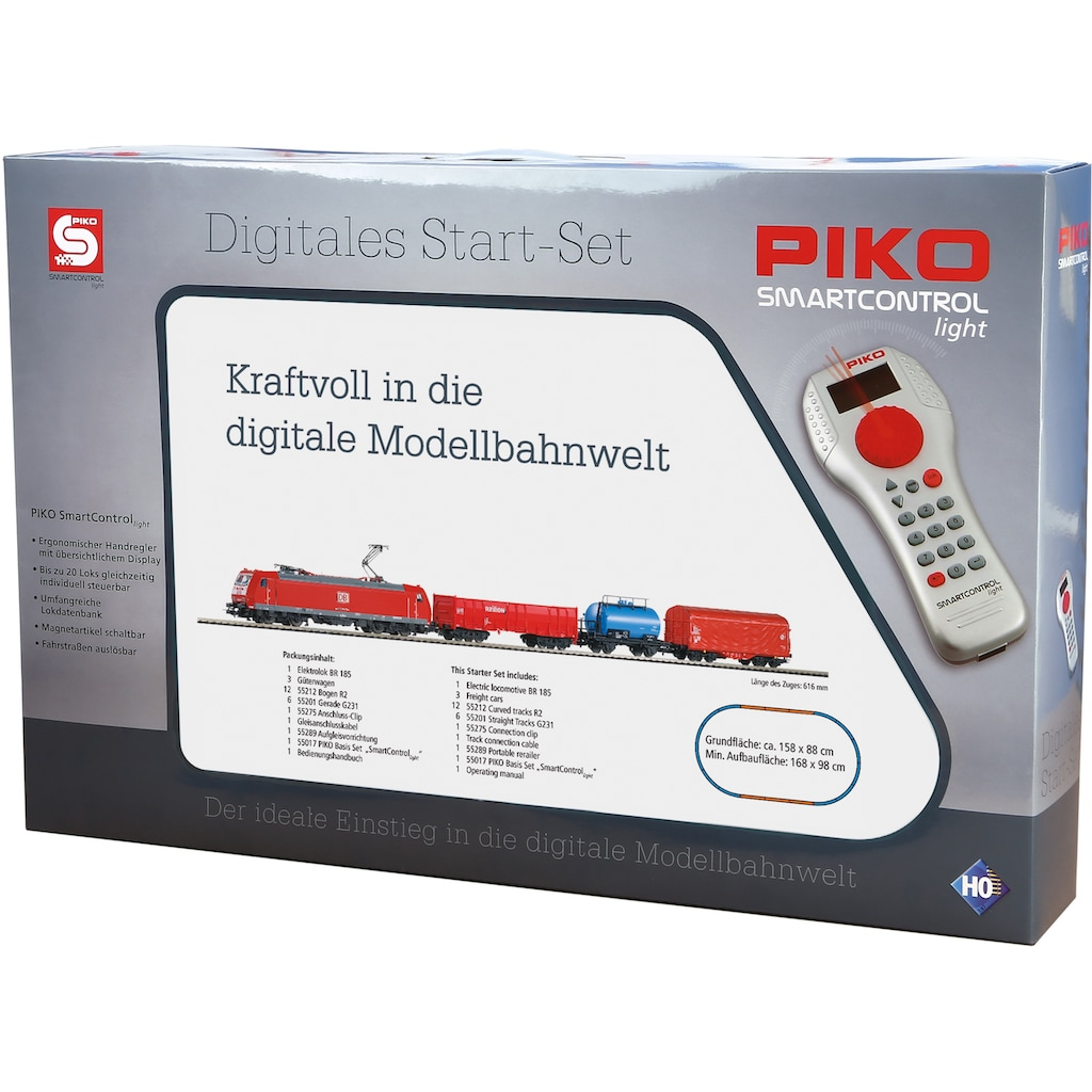 PIKO Modelleisenbahn-Set »SmartControl light Güterzug BR 185 mit 3 Güterwagen, (59004)«