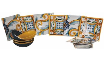 Villa d'Este Teller-Set »Le Riggiole«, (18 tlg.), Tafelservice 18-teilig für 6 Personen kaufen