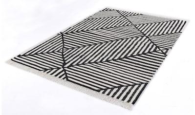 TOM TAILOR Teppich »Criss Cross«, rechteckig, 5 mm Höhe, Boho-Style, handgewebt, mit... kaufen