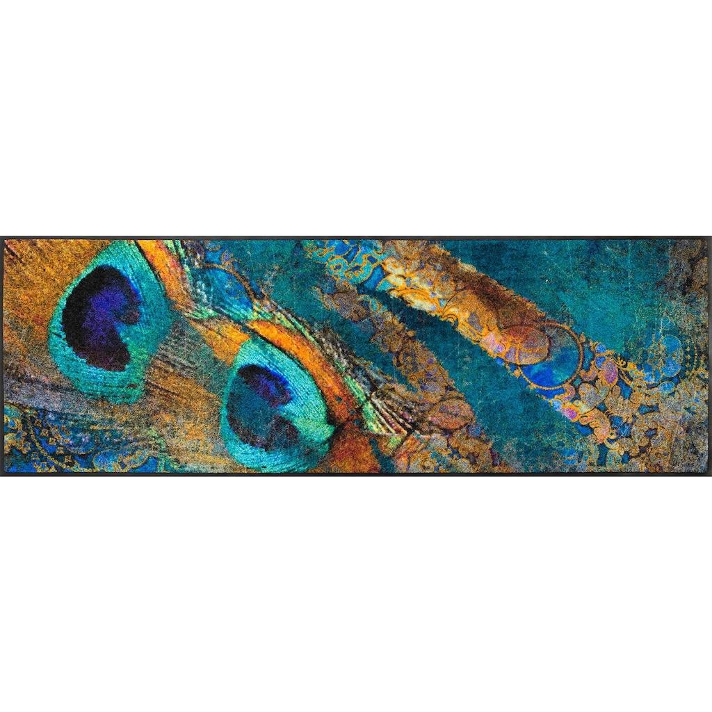 wash+dry by Kleen-Tex Läufer »Exotic Pavo«, rechteckig, 7 mm Höhe, In- und Outdoor geeignet, waschbar