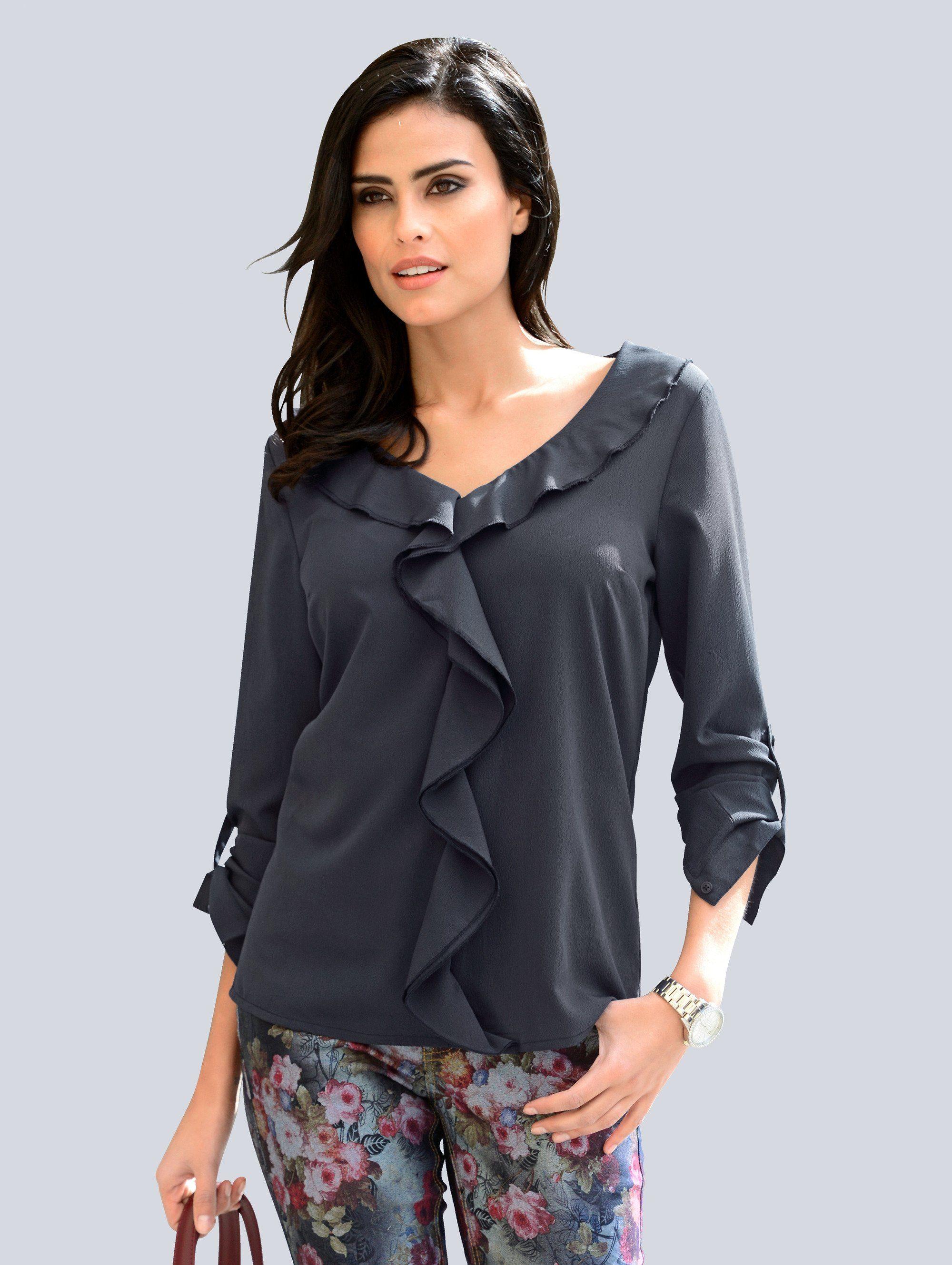 Alba Moda Bluse mit femininen Volants