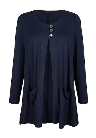 MIAMODA Shirtjacke, mit Knöpfen zum schließen kaufen