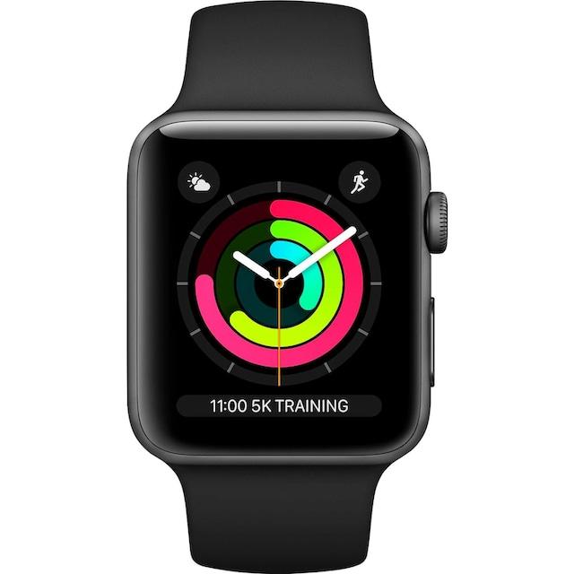 Apple Series 3 GPS, Aluminiumgehäuse mit Sportarmband 38mm Watch (Watch OS 5)