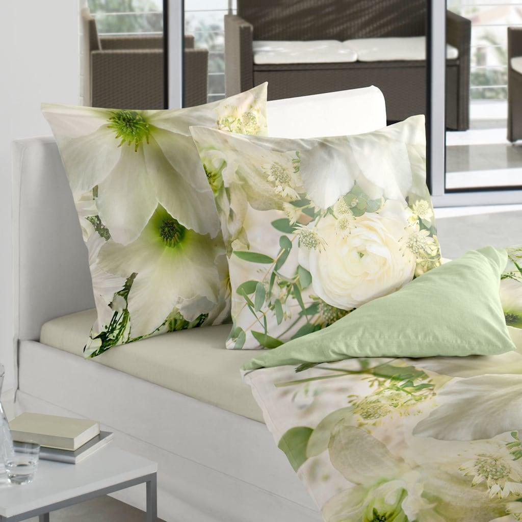 TRAUMSCHLAF Bettwäsche »Romance«, floraler Fotodruck auf Mako-Satin