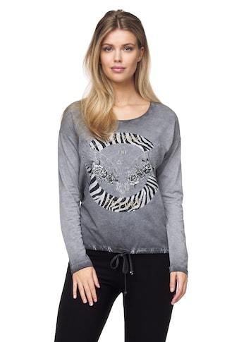 Decay Langarmshirt, mit tollem Animalprint kaufen