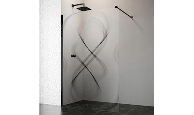 welltime by GEO Walk-in-Dusche, 120 cm, schwarz kaufen