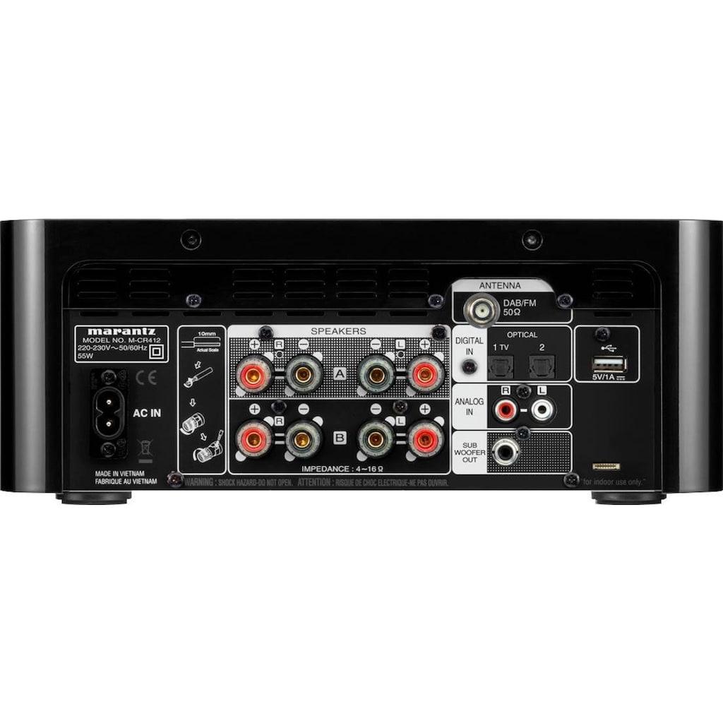 Marantz CD-Receiver »MCR-412«, (Bluetooth Sleeptimer-DAB+-FM Tuner)
