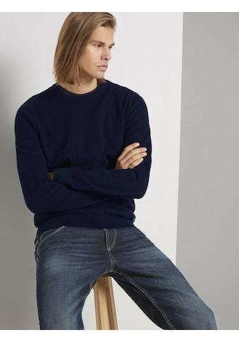 TOM TAILOR Denim Strickpullover »strukturierter Pullover« kaufen