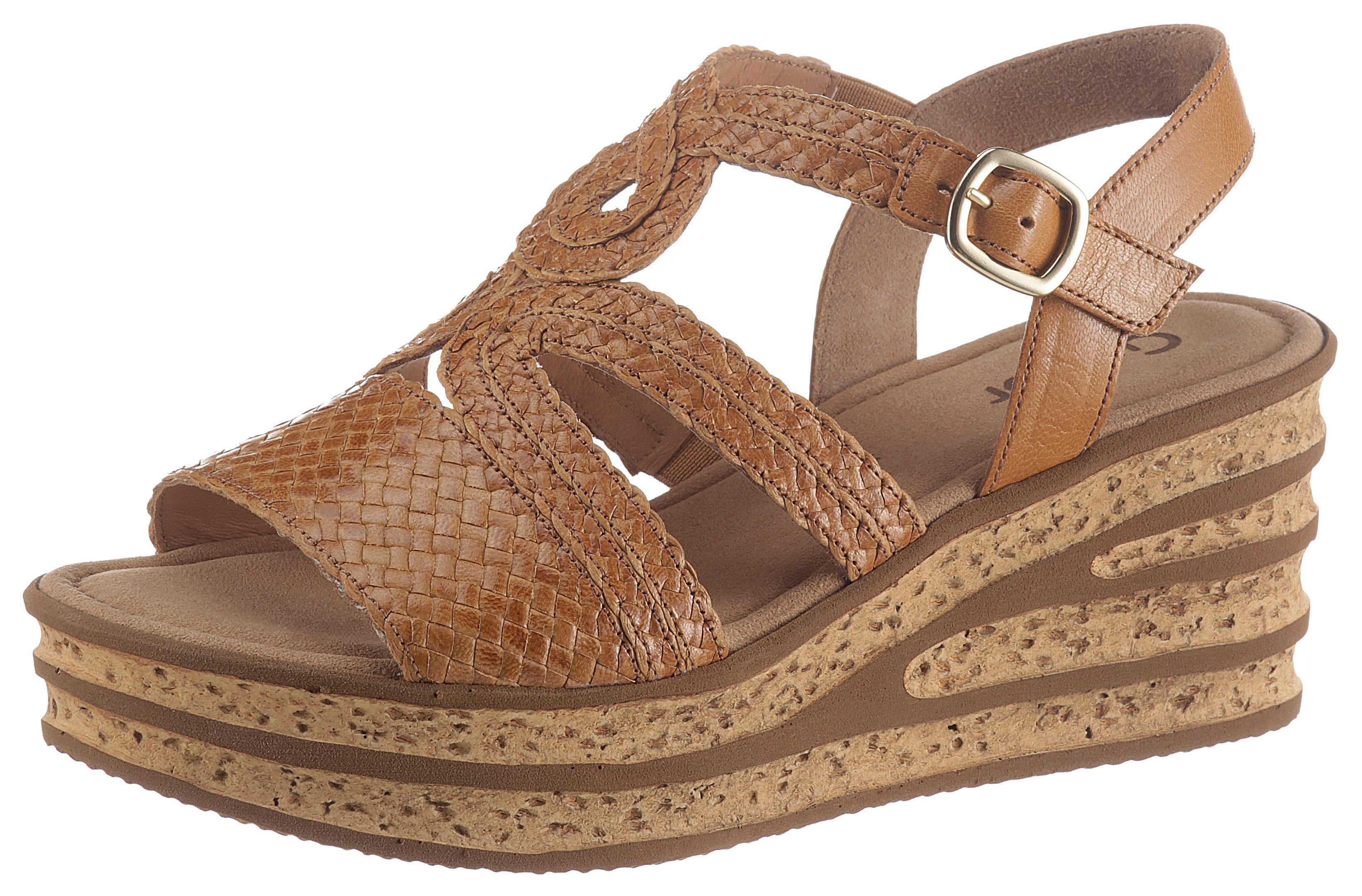 gabor -  Sandalette, in sommerlicher Flechtoptik