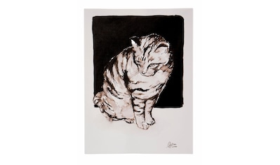 Guido Maria Kretschmer Home&Living Leinwandbild »Katze«, von Frank Mutters, gerahmt, Keilrahmen kaufen