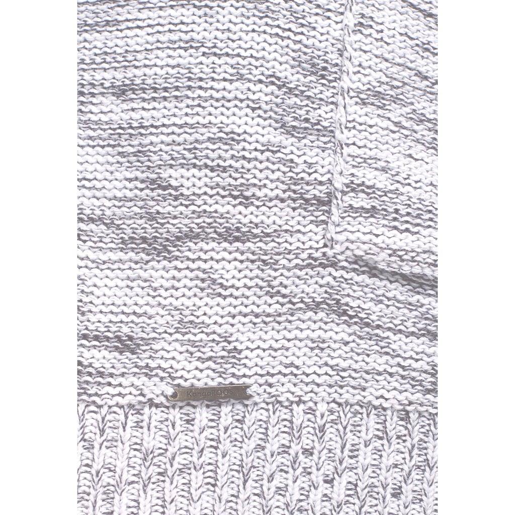 KangaROOS Strickjacke, in meliertes Obermaterial
