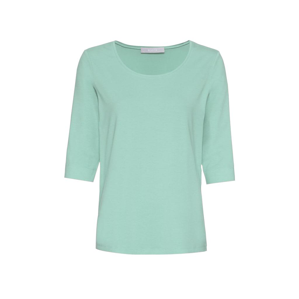 bianca Kurzarmshirt »DIELLA«, Basic-Shirt mit verlängertem Arm