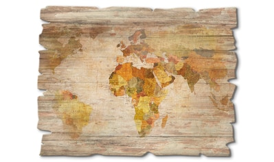 Artland Holzbild »Weltkarte«, Landkarten, (1 St.) kaufen