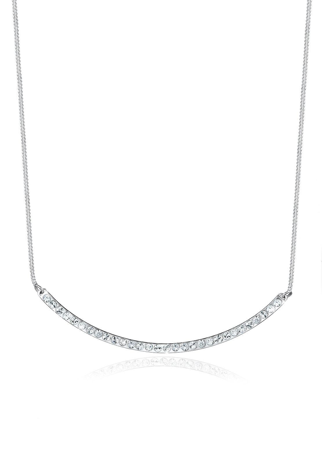 Elli Statementkette Bogen Minimal Swarovski Kristalle 925 Silber | Schmuck > Halsketten > Statementketten | Elli