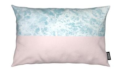 Juniqe Dekokissen »Pink on the Sea«, Weiches, allergikerfreundliches Material kaufen