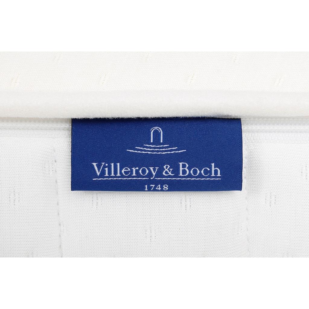 Villeroy & Boch Boxspringbett »LAILA CARRÉ«, Einzelbett mit Kopfteil Curve Slim Höhe 130 cm, TFK 500/1000