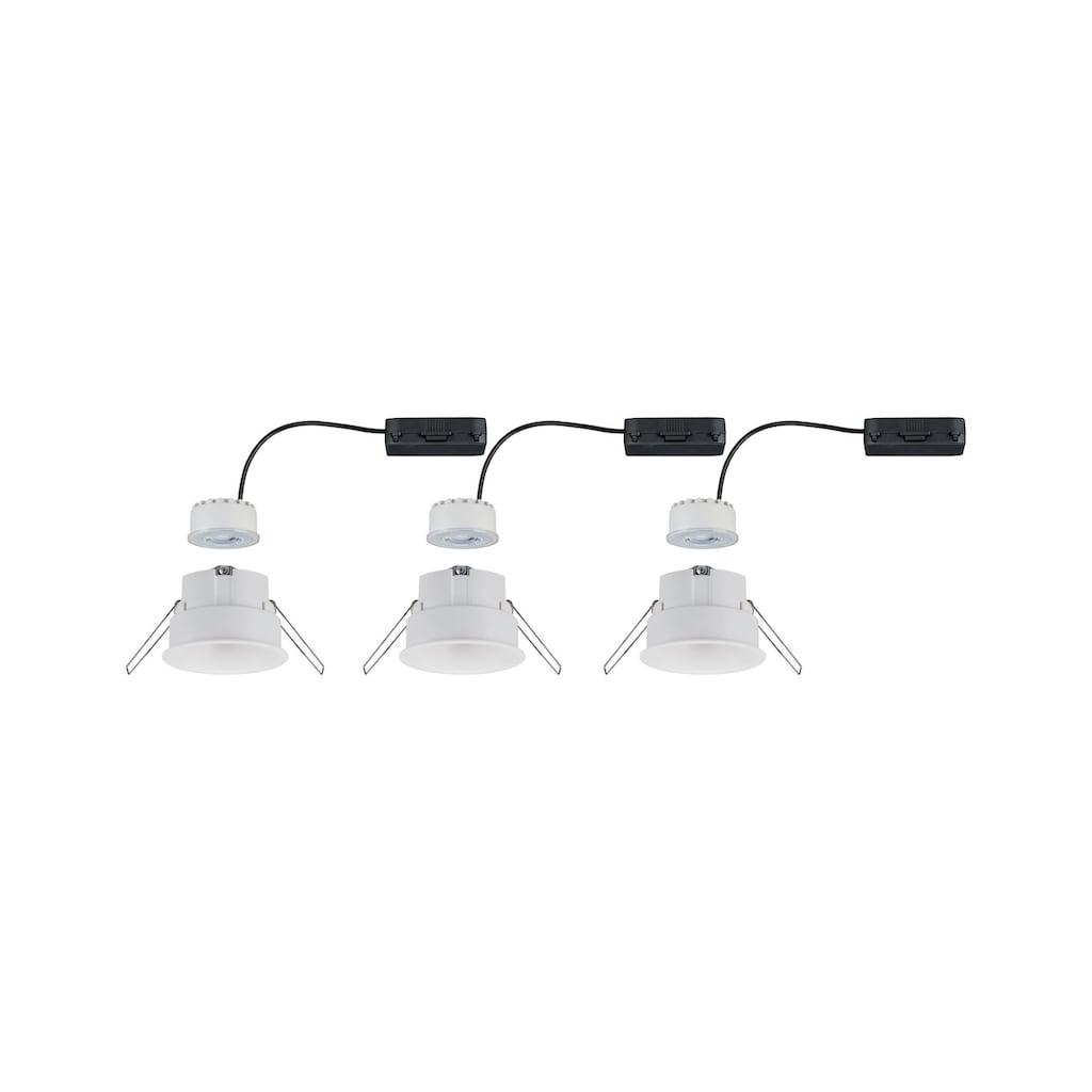 Paulmann LED Einbaustrahler »Cymbal 3x6,8W Weiß matt blendfrei dimmbar starr«, Warmweiß