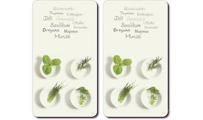 KESPER for kitchen & home Schneide- und Abdeckplatte »Kräuter«, Multi-Glasschneideplatte kaufen