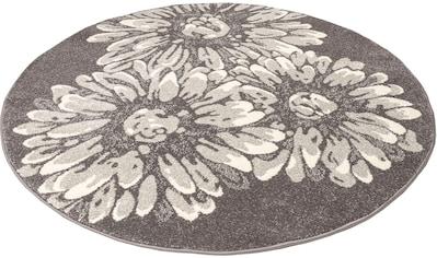 Teppich, »Vaiana«, my home, rund, Höhe 14 mm, maschinell gewebt kaufen