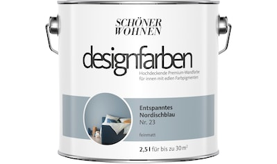 SCHÖNER WOHNEN FARBE Farbe »Designfarben«, Entspanntes Nordischblau Nr. 23, feinmatt 2,5 l kaufen