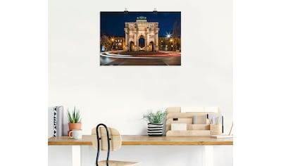 Artland Wandbild »Siegestor München, Deutschland«, Elemente der Architektur, (1 St.),... kaufen