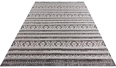 MINT RUGS Teppich »Sebou«, rechteckig, 22 mm Höhe, Hoch-Tief-Struktur, Wohnzimmer kaufen
