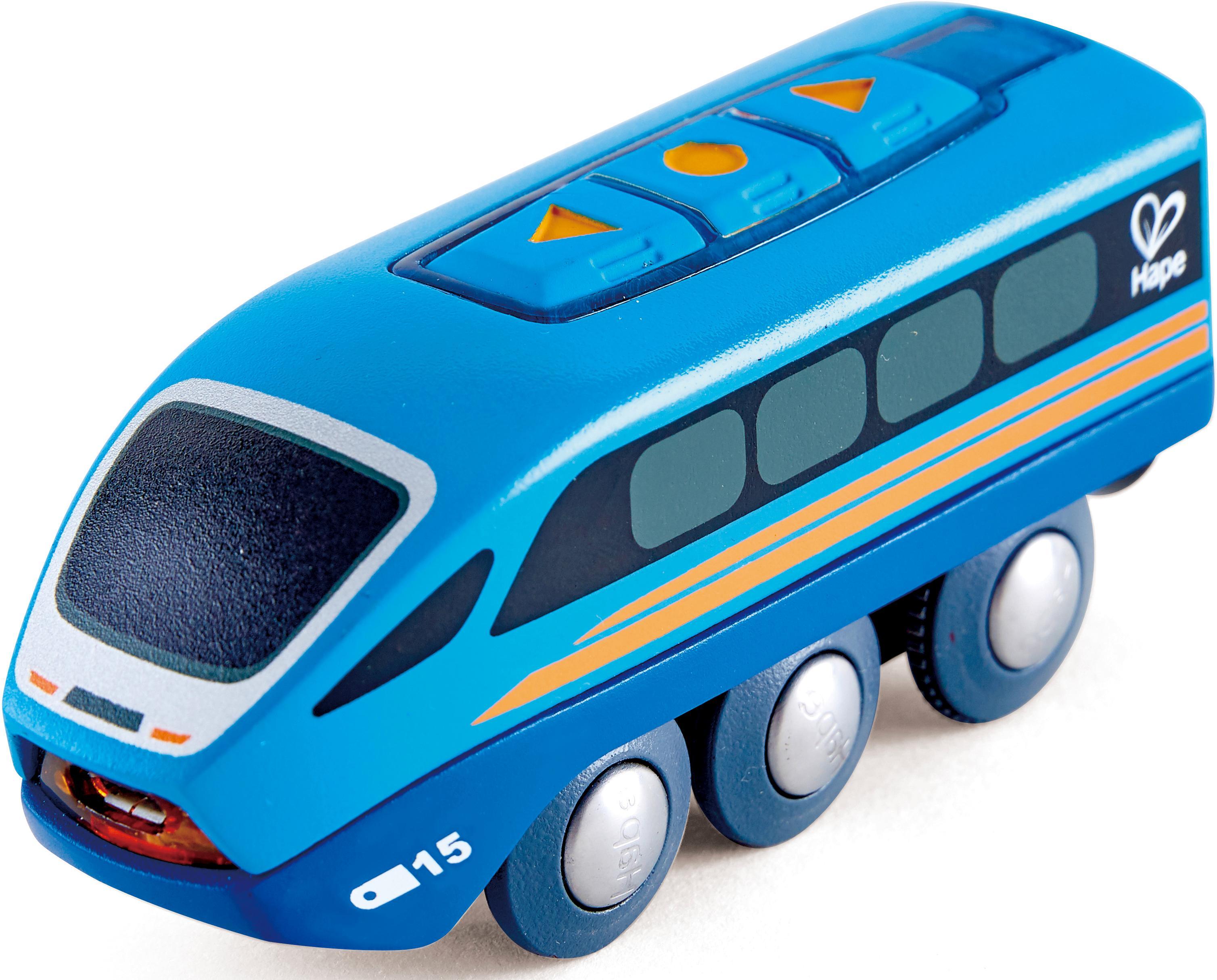 Hape Spielzeug-Eisenbahn Ferngesteuerter Zug, mit Soundeffekt blau Kinder Ab 3-5 Jahren Altersempfehlung Spielzeugfahrzeuge