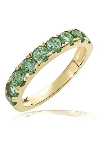 goldmaid Damenring Memoire 375/- Gelbgold 9 Smaragde kaufen