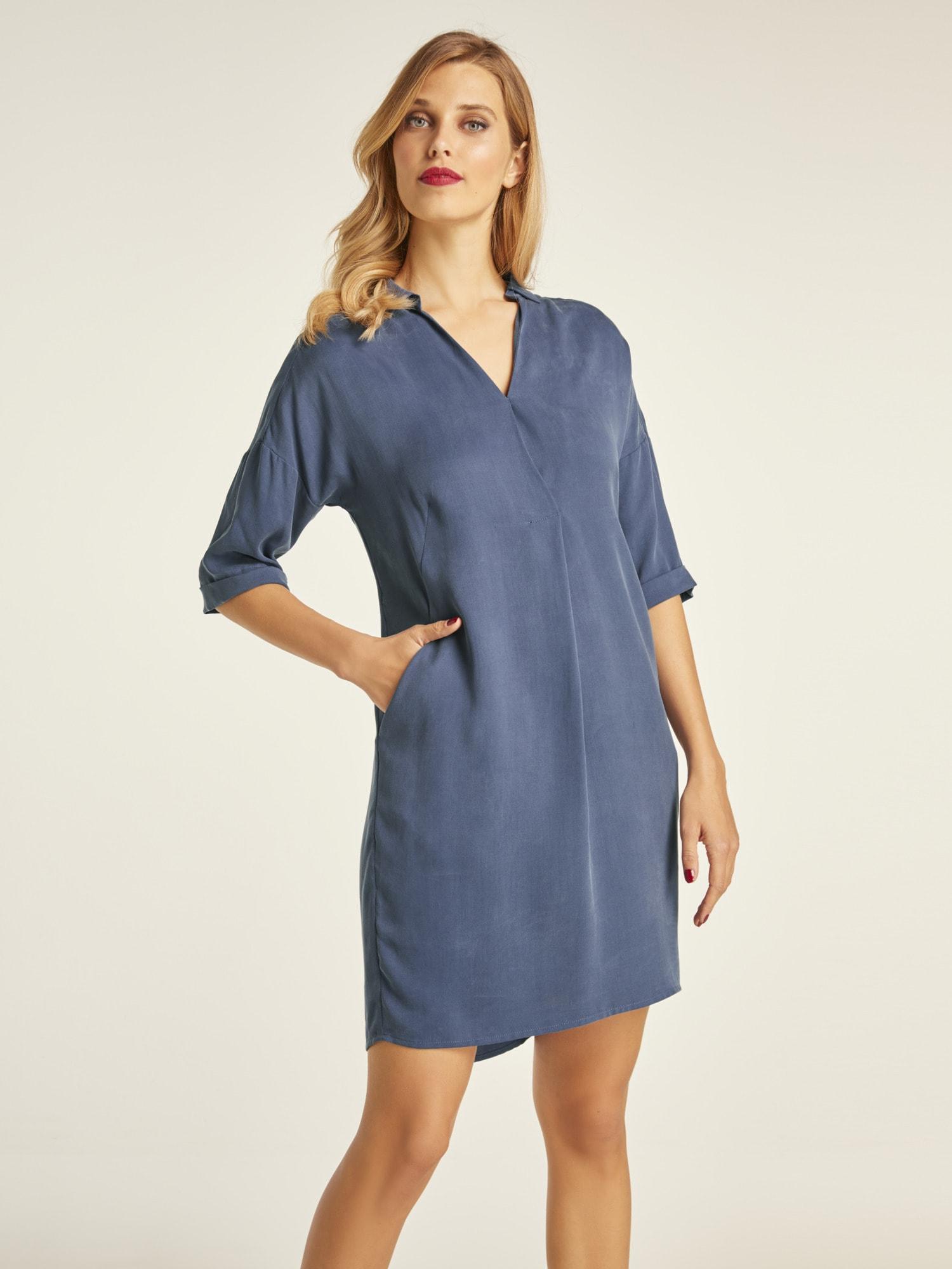 heine timeless kleid aus tencel kaufen bei baur