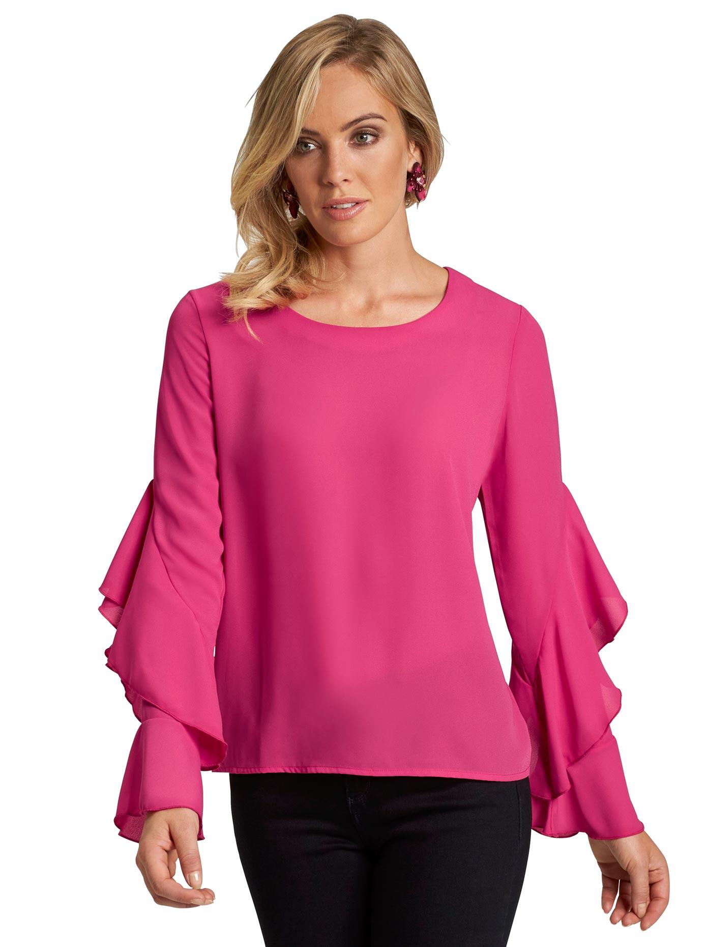 création L Bluse in strahlend schöner Farbgebung