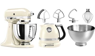 KitchenAid Küchenmaschine Artisan 5KSM175PSEAC mit Gratis Wasserkocher, 2. Schüssel, Flexirührer, 300 Watt, Schüssel 4,8 Liter kaufen
