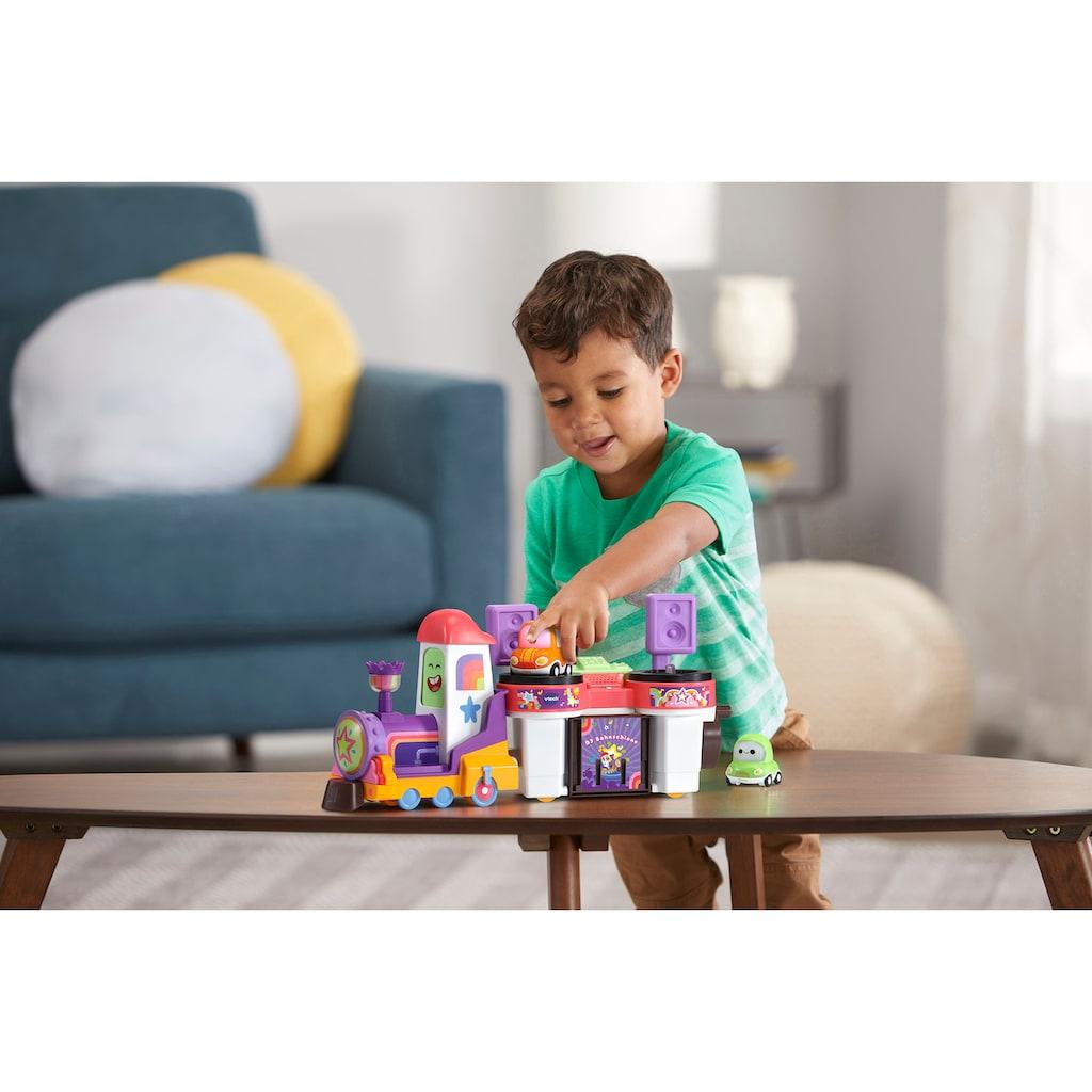 Vtech® Spielzeug-Eisenbahn »Tut Tut Cory Flitzer - DJ Bahnschiene«, mit Licht und Sound