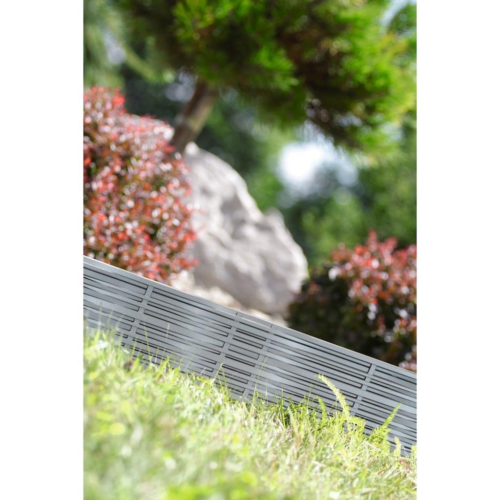 Prosperplast Beetumrandung »Garden border 405U«, Länge 390 cm, steingrau