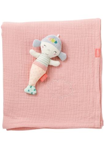 Fehn Babydecke »Meereskinder, Musselindecke Meerjungfrau«, mit kleinem Greifling kaufen