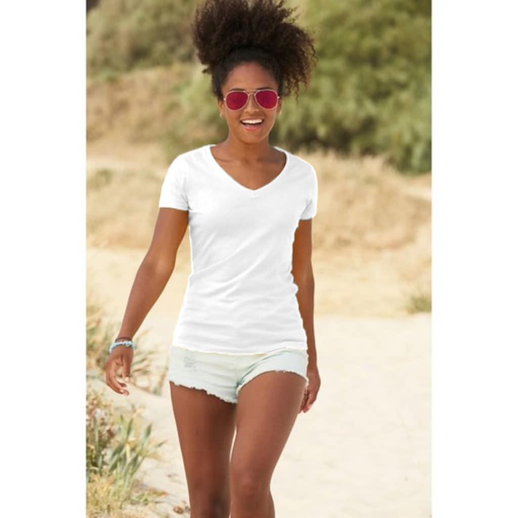 Fruit of the Loom V-Shirt »Lady-Fit Valueweight Damen T-Shirt, V-Ausschnitt«