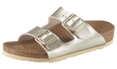 Birkenstock Pantolette »Arizona Electric metallic«, mit verstellbaren Schnallen kaufen