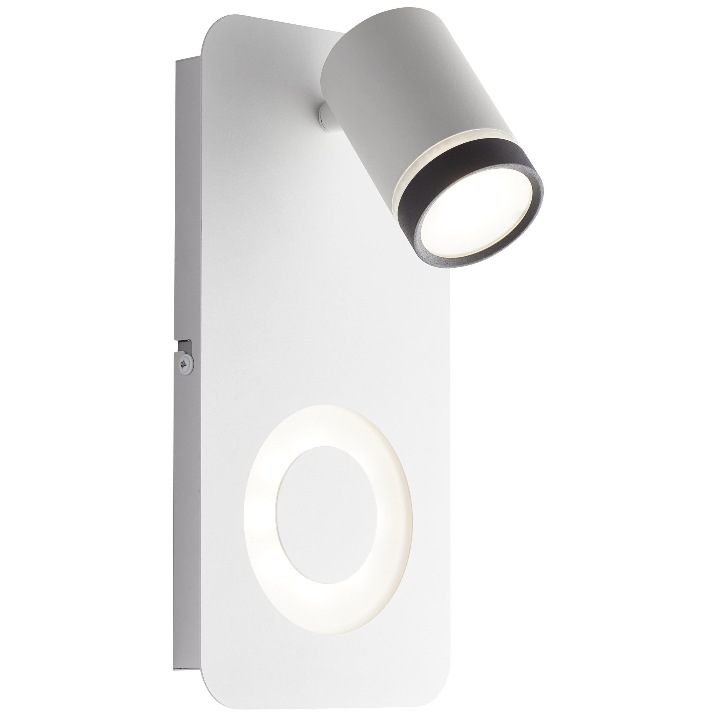 AEG Breena LED Wandspot 2flg sand weiß/schwarz