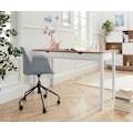 my home Schreibtischstuhl »Tayler«, mit einer Kunststoffschale und einem Webstoff Sitzkissen (abnehmbar), Gestell aus Metall, Höhenverstellbar, Sitzhöhe 50 cm