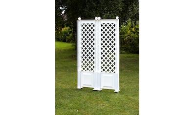 KHW Spalier BxTxH: 43x6x140 cm, weiß kaufen