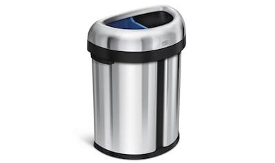 """simplehuman Mülltrennsystem """"66 l halbrunder offener Abfalleimer mit Doppelfach robuster"""" kaufen"""