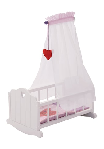 roba® Puppenwiege »Fienchen - Weiß-Lila« kaufen