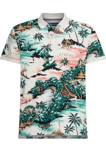 TOMMY HILFIGER Poloshirt »ALL OVER HAWAIIAN PRINT REG POLO« kaufen