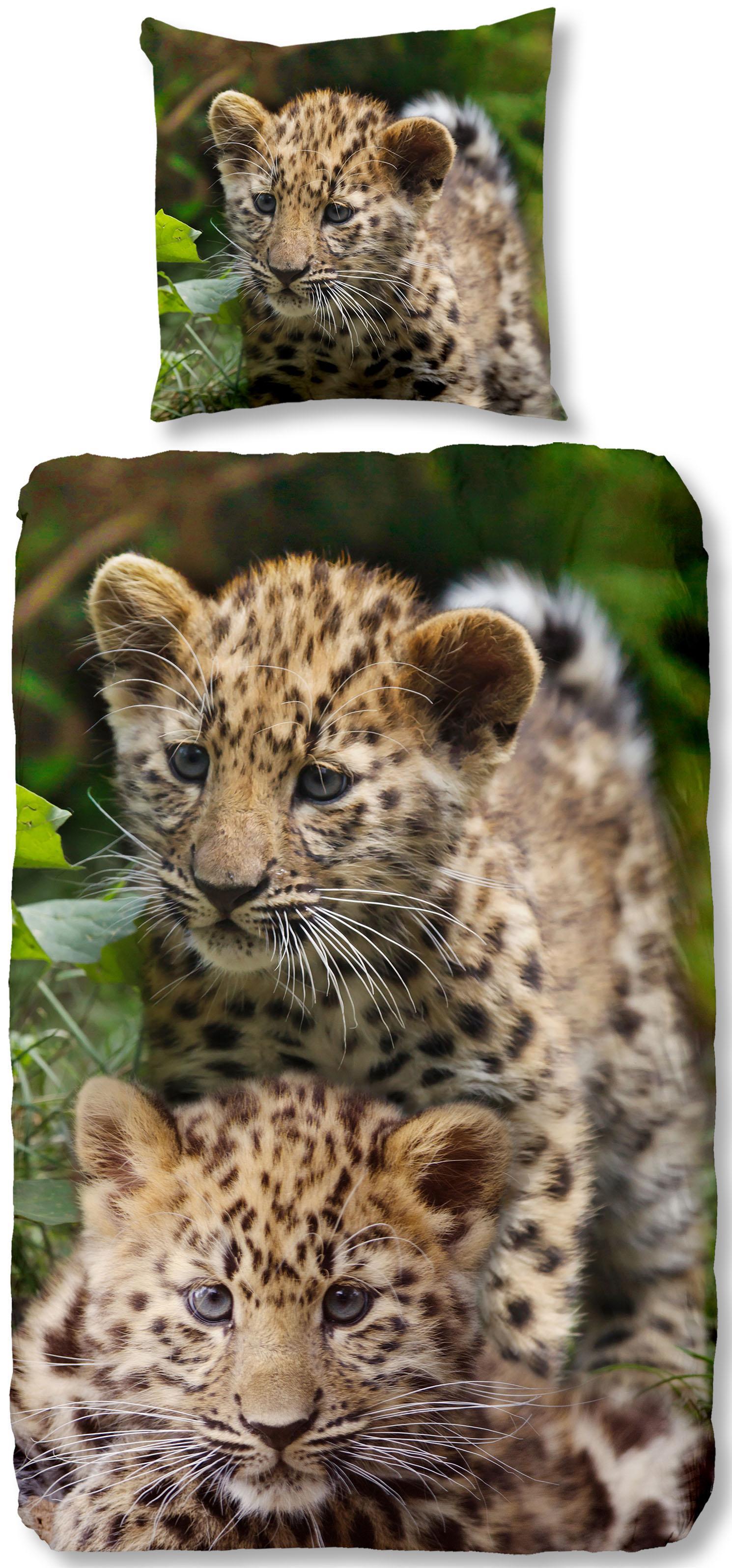 Kinderbettwäsche Leopards good morning