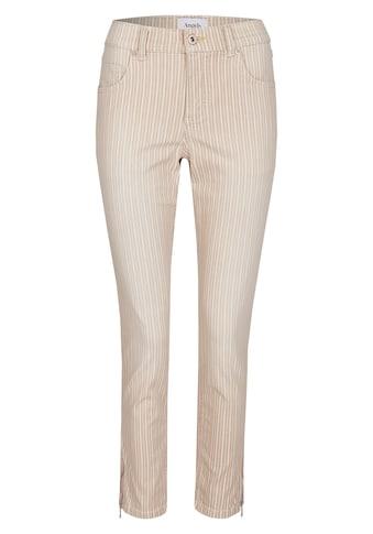 ANGELS Skinny-fit-Jeans, 'Skinny Ankle Zip' mit gestreiftem Allover-Muster kaufen