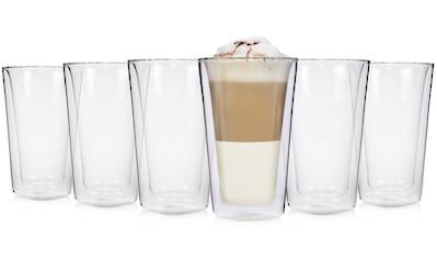 SÄNGER Thermobecher »Macchiato«, (6 tlg., 6 teiliges Latte Macchiato-Gläser Set), 6x... kaufen