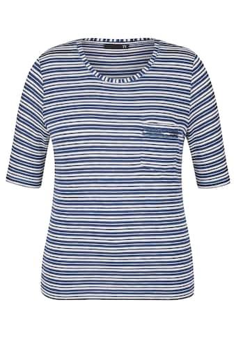 Thomas Rabe T-Shirt mit Brusttasche und Pailletten kaufen