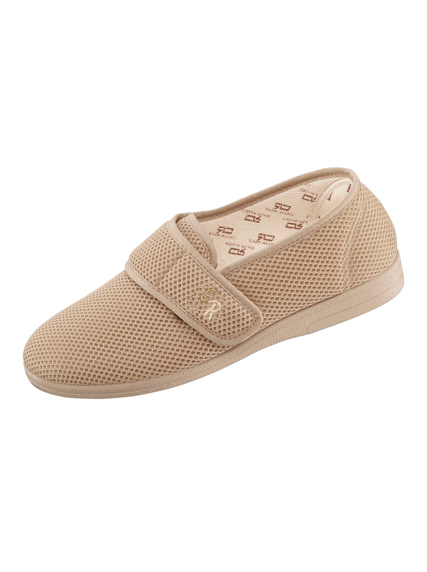 Hausschuh mit flexibler Synthetik-Laufsohle | Schuhe > Hausschuhe > Klassische Hausschuhe | Beige | Classic