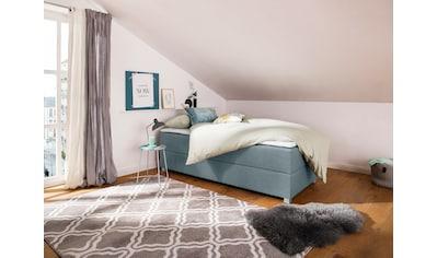 my home Boxspringbett »Alexis«, ohne Kopfteil - ideal für Räume mit Dachschrägen oder eigener Wandgestaltung; in 4 Breiten, und vielen Ausführungen, incl. Topper und Bettkasten kaufen